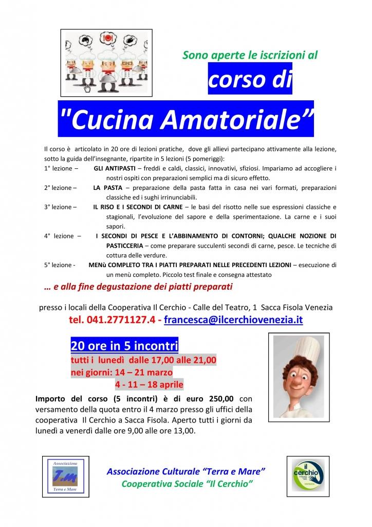 corso cucina locandina  mar apr 2016