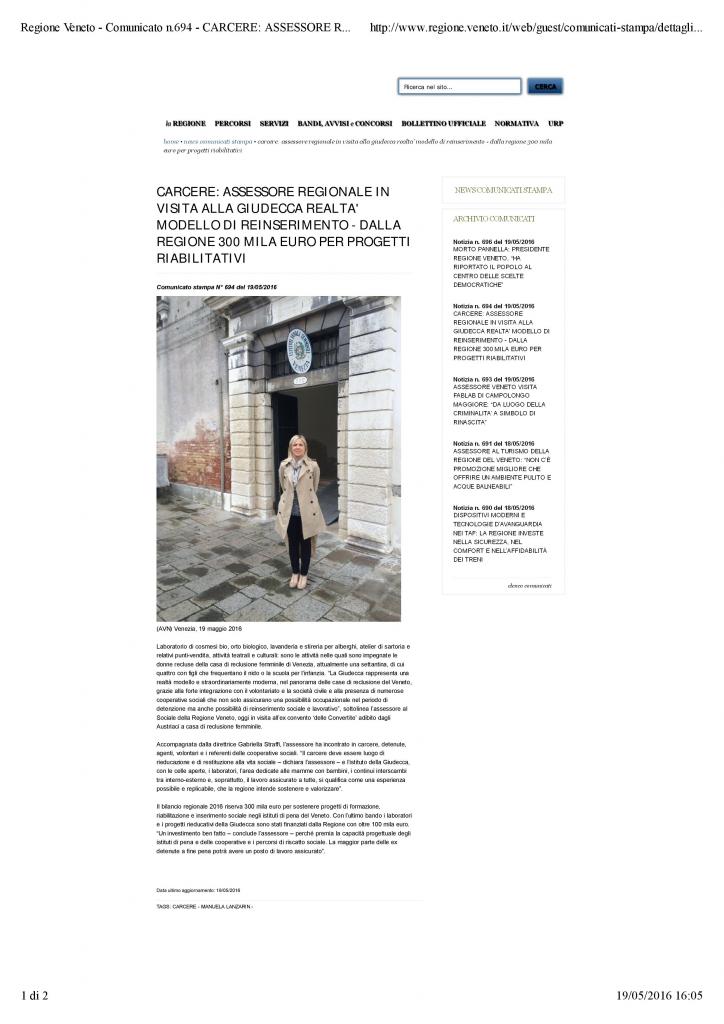 Regione Veneto - Comunicato Lanzarin in CRD
