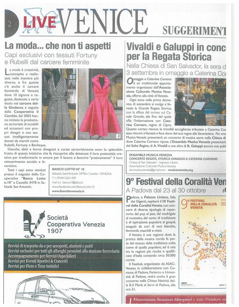 Articolo Live Venice - lug16